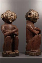 Couple de statues vautives Kongo