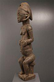 Art africain - Statues - Statue vautive Baoulé