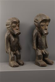 Art africain - Statuettes - Couple de statues vautives Ngbaka