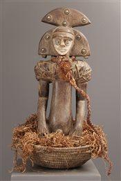 Art africain - Reliquaires - Panier reliquaire Bakota