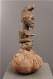 Art africain - Bijoux - Poupée fétiche Songye