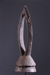 Masque africainMasque cimier Gurunsi