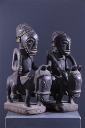 Paire de cavaliers Yoruba Elesin Sango