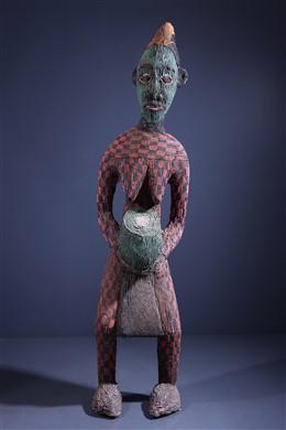 Grande statue perlée Bamileke