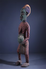 Statues africainesGrande statue perlée Bamileke
