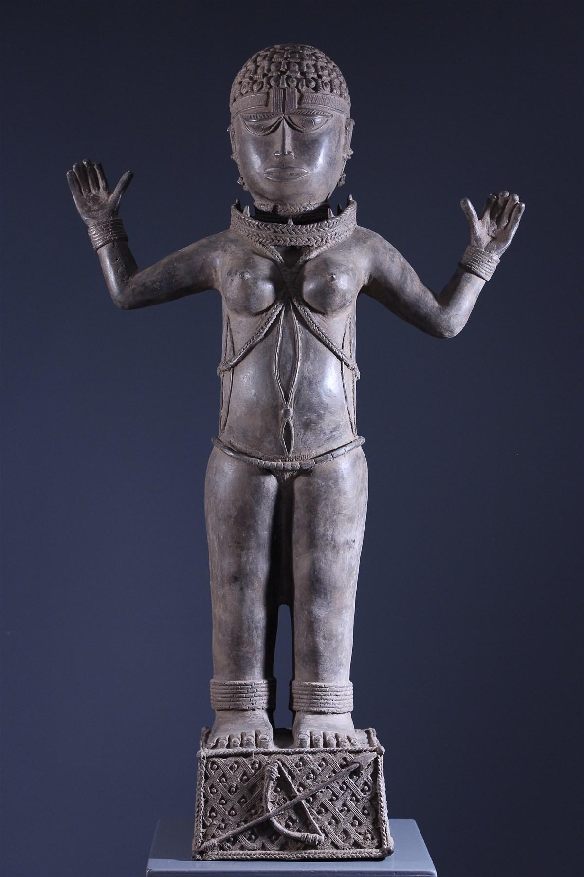 Statue royale Benin Bini Edo - Art africain