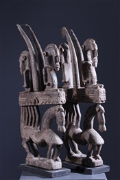 Paire de masques ci wara Bambara