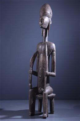 Grande statue de dignitaire Bambara - Art africain