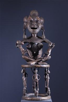 Maternité Tikar en bronze