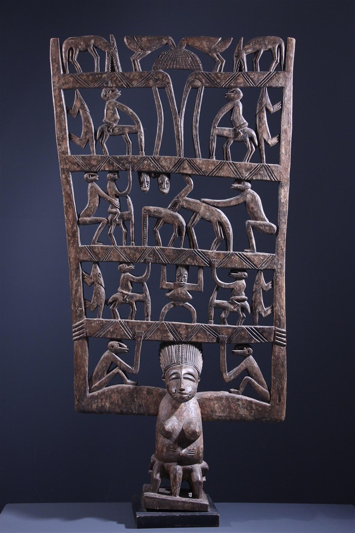 Panneau rituel de procession Senoufo Kwonro - Art africain