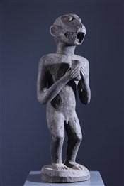 Art africain - Statues - Statue de singe mendiant Baoulé