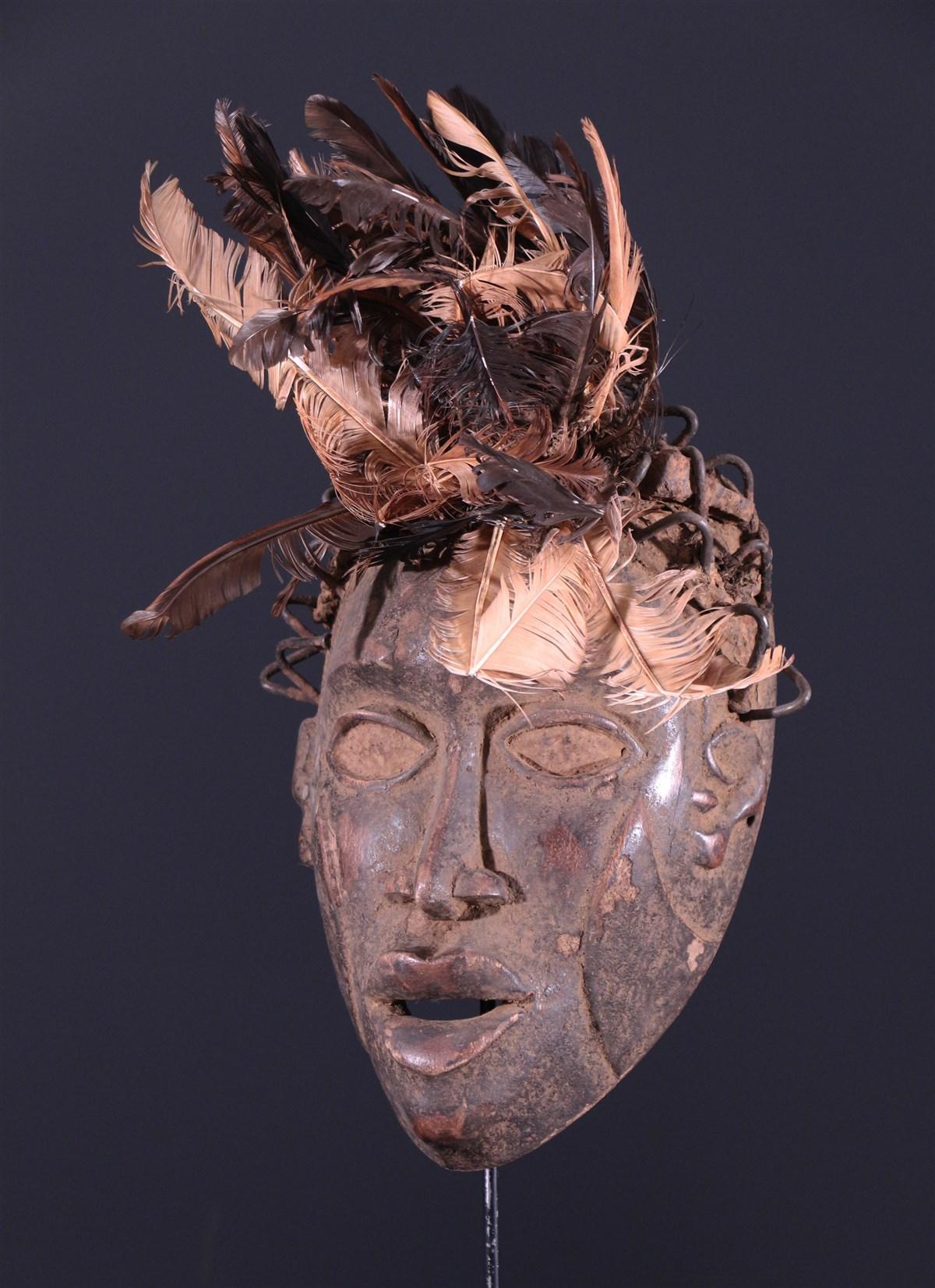 Masque de sorcier Kongo Vili - art primitif
