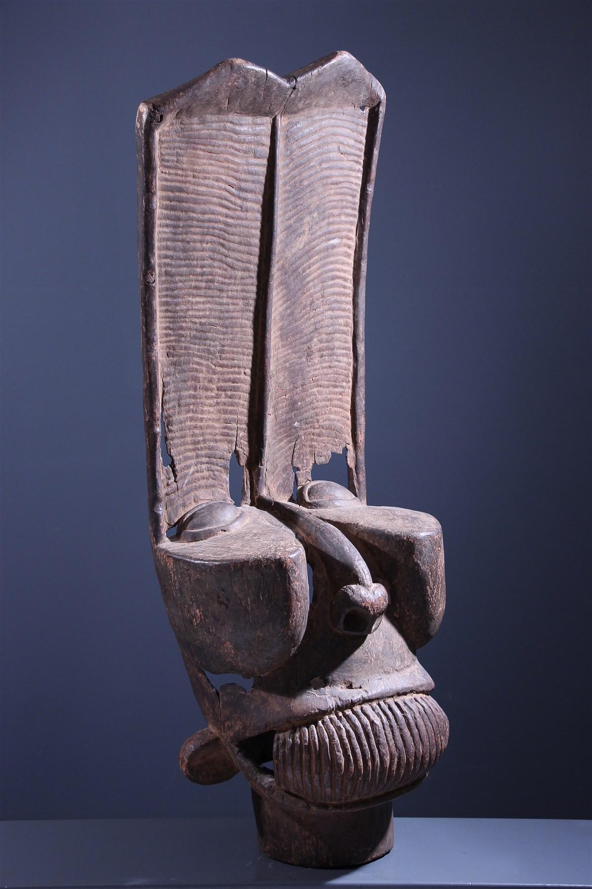 Grand masque Batcham Bamileke - art primitif
