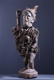 Figure de pouvoir Kongo Nkisi