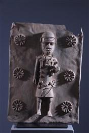 Plaque en bronze Benin Bini Edo