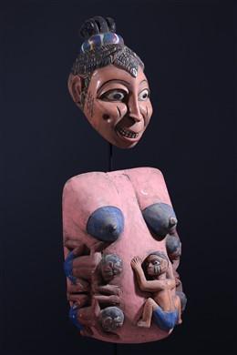 Masque ventral Gelede Yoruba