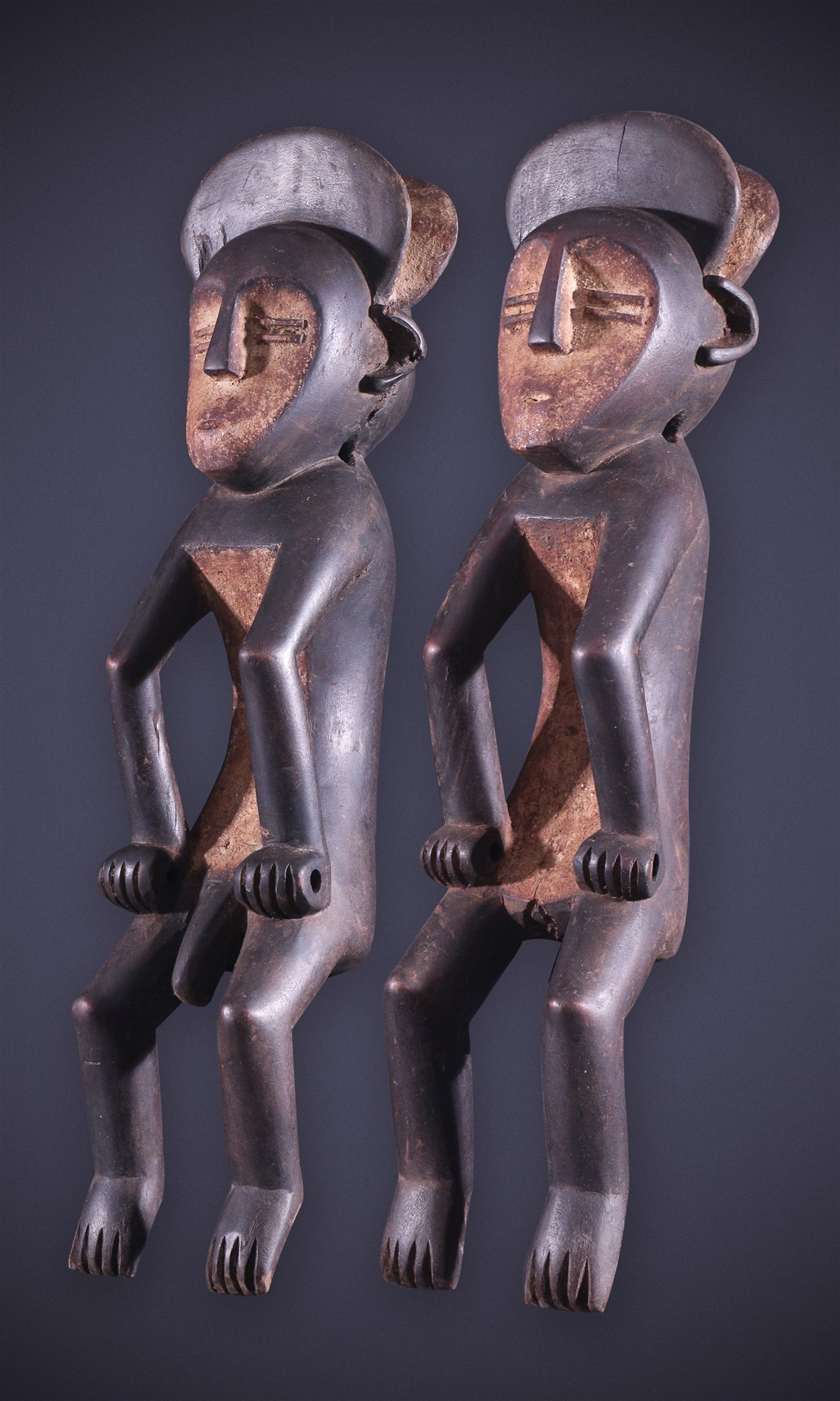 Couple de statues Mbole Ofika - Art africain