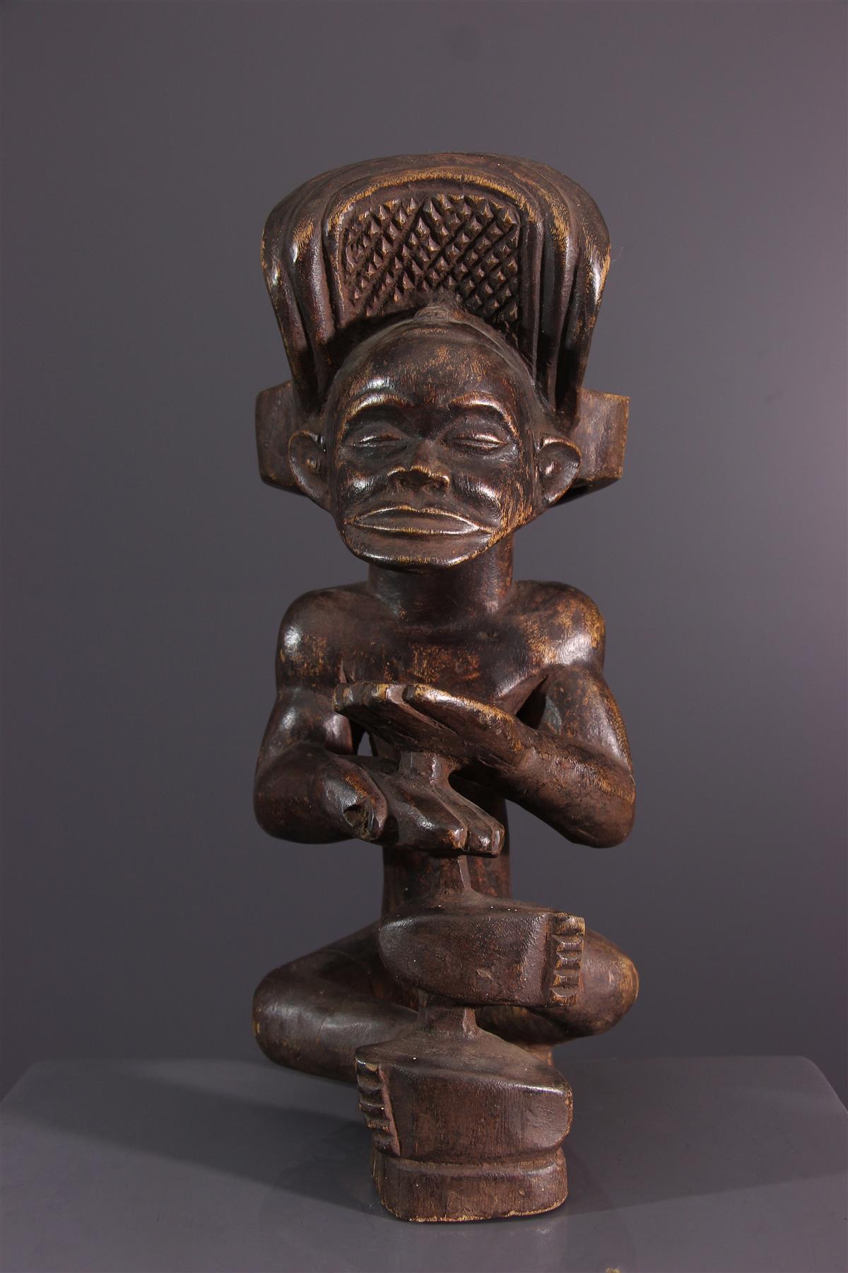 Statue Chokwe - Art africain