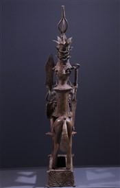 bronze africainGrand Cavalier en bronze Yoruba