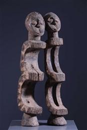 Masque africainPaire de cimiers Ogbom Eket