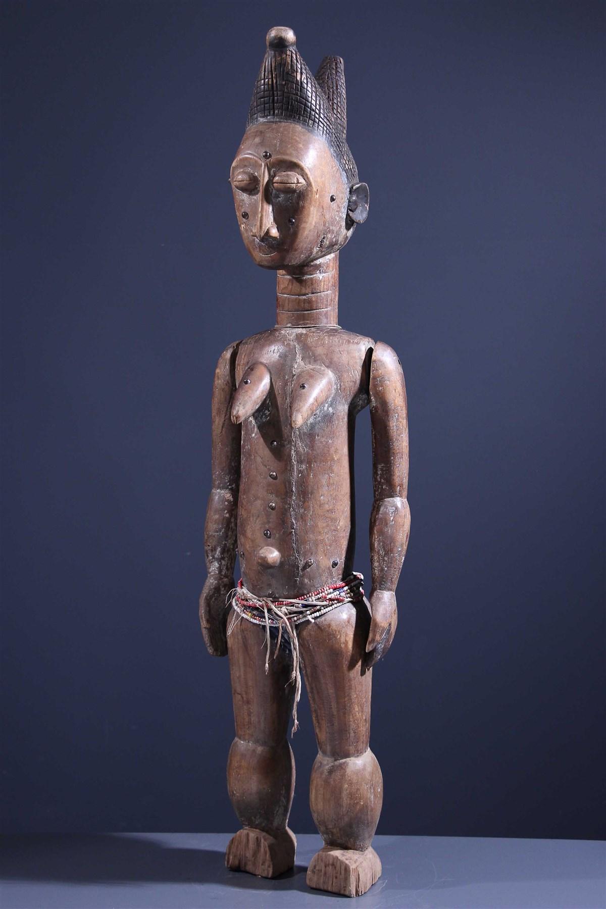 Marionnette féminine Attié - art primitif