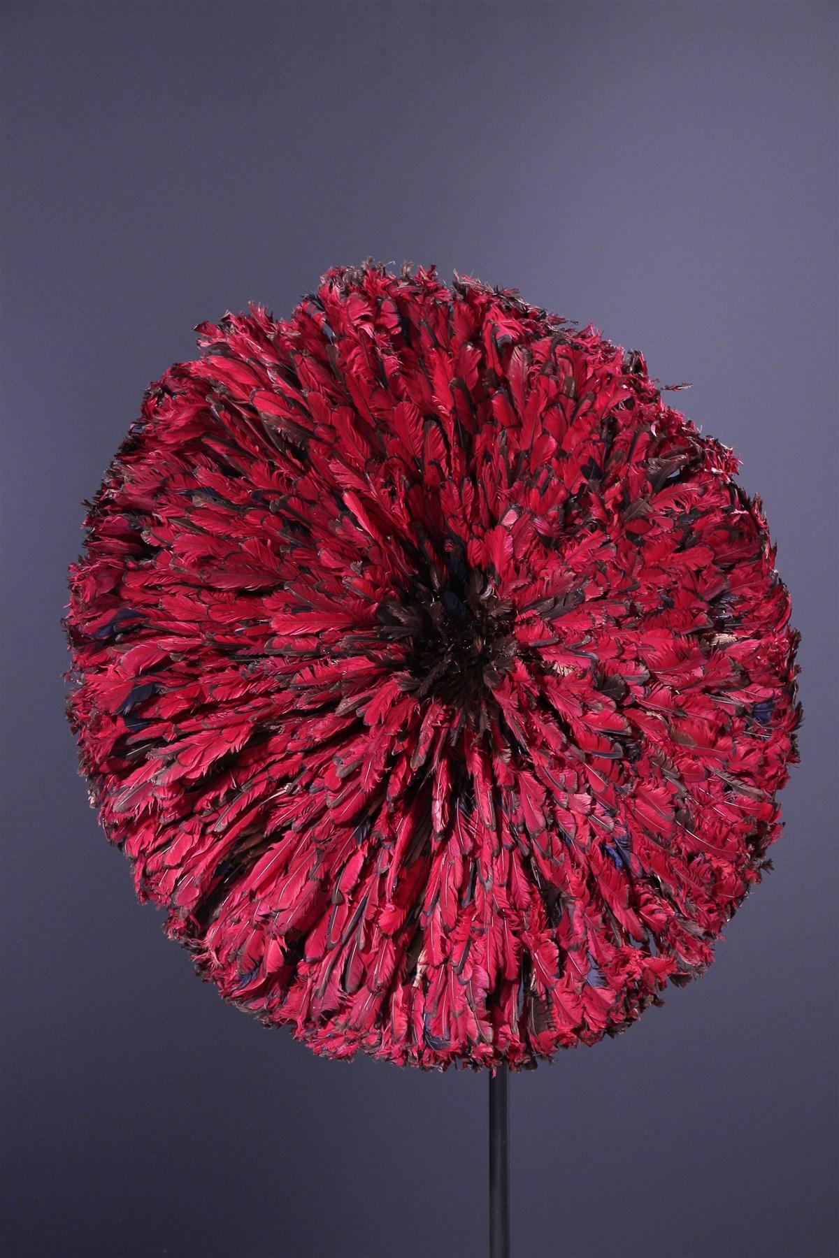 Couronne de plumes Ten Bamileke - Art africain