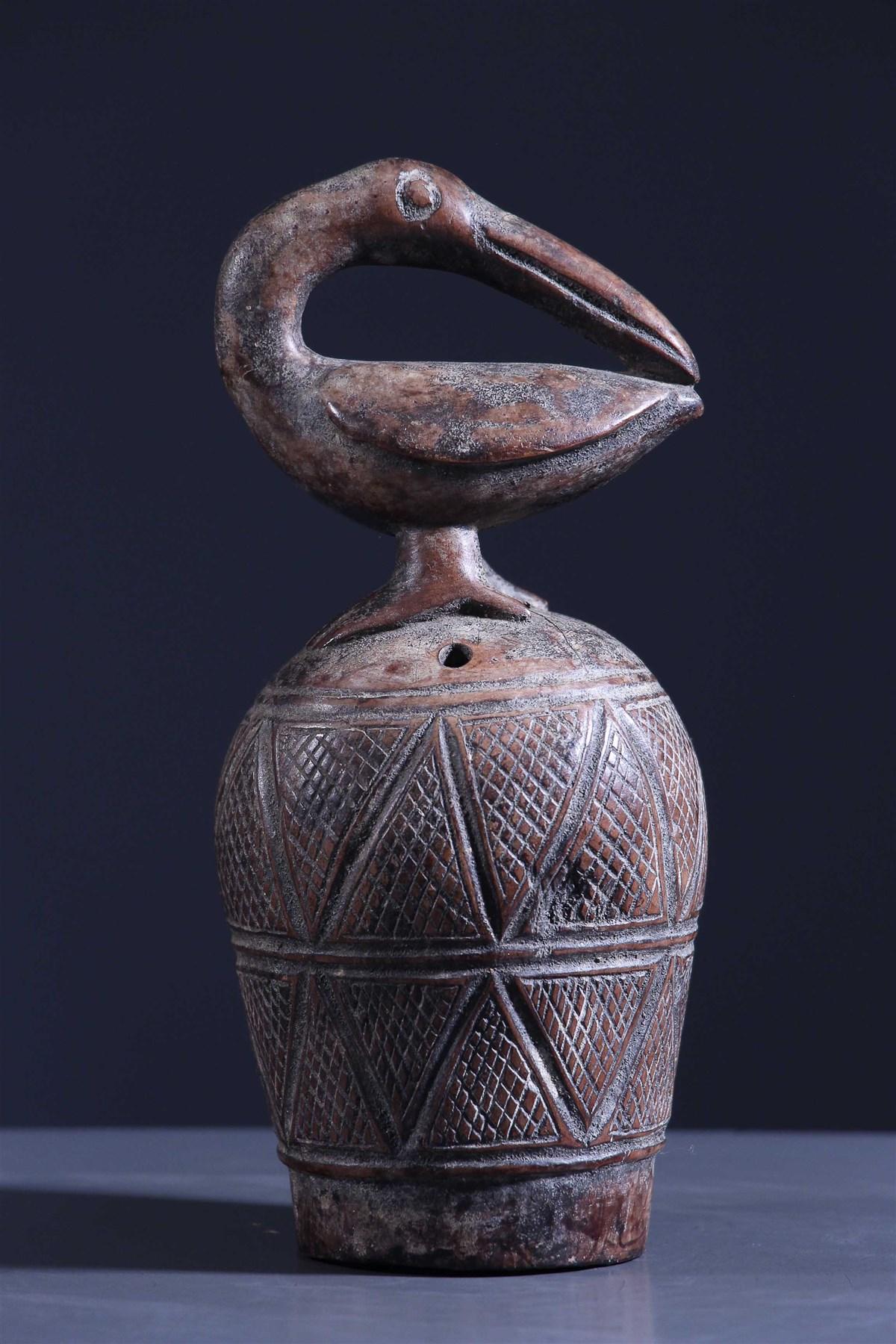 Cloche rituelle zoomorphe Kuba - art primitif