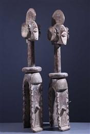 Art africain - Masques - Paire de masques d'épaules Sukwava Wurkum