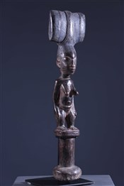 Art africain - Bâton de commandement - Bâton Oshe Shango Yoruba