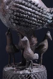 bronze africainCoq Okpa en bronze Benin Bini Edo