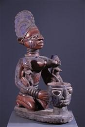 Art africain - Statues - Porteuse de coupe Yoruba