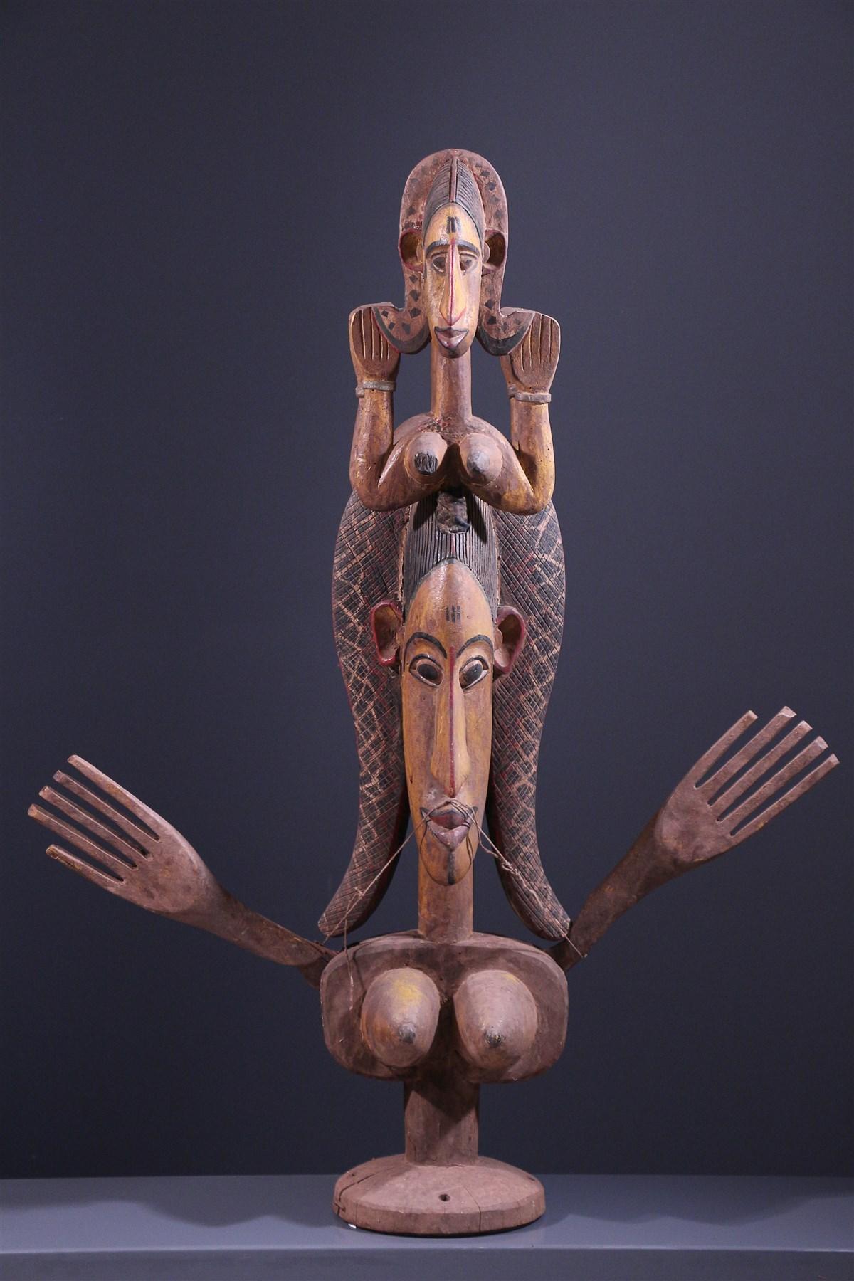 Marionnette articulée Janus Maaniw Bozo - Art africain