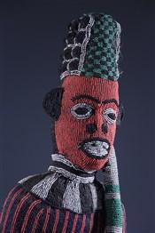 Statues africainesGrand statue perlée Bamileke