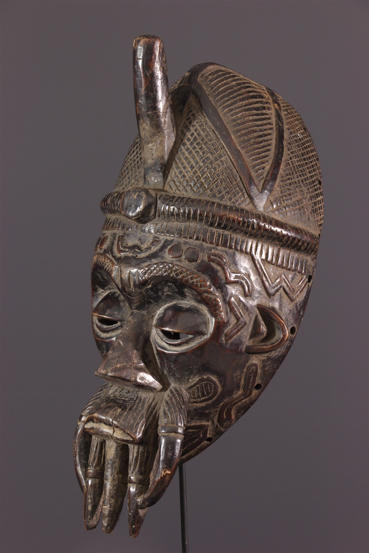 Masque facial Béna Lulua - Art africain