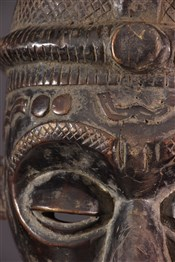 Masque africainMasque facial Béna Lulua