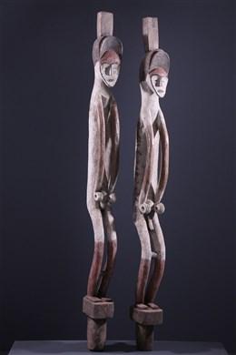 Couple de statues Mbole Ofika
