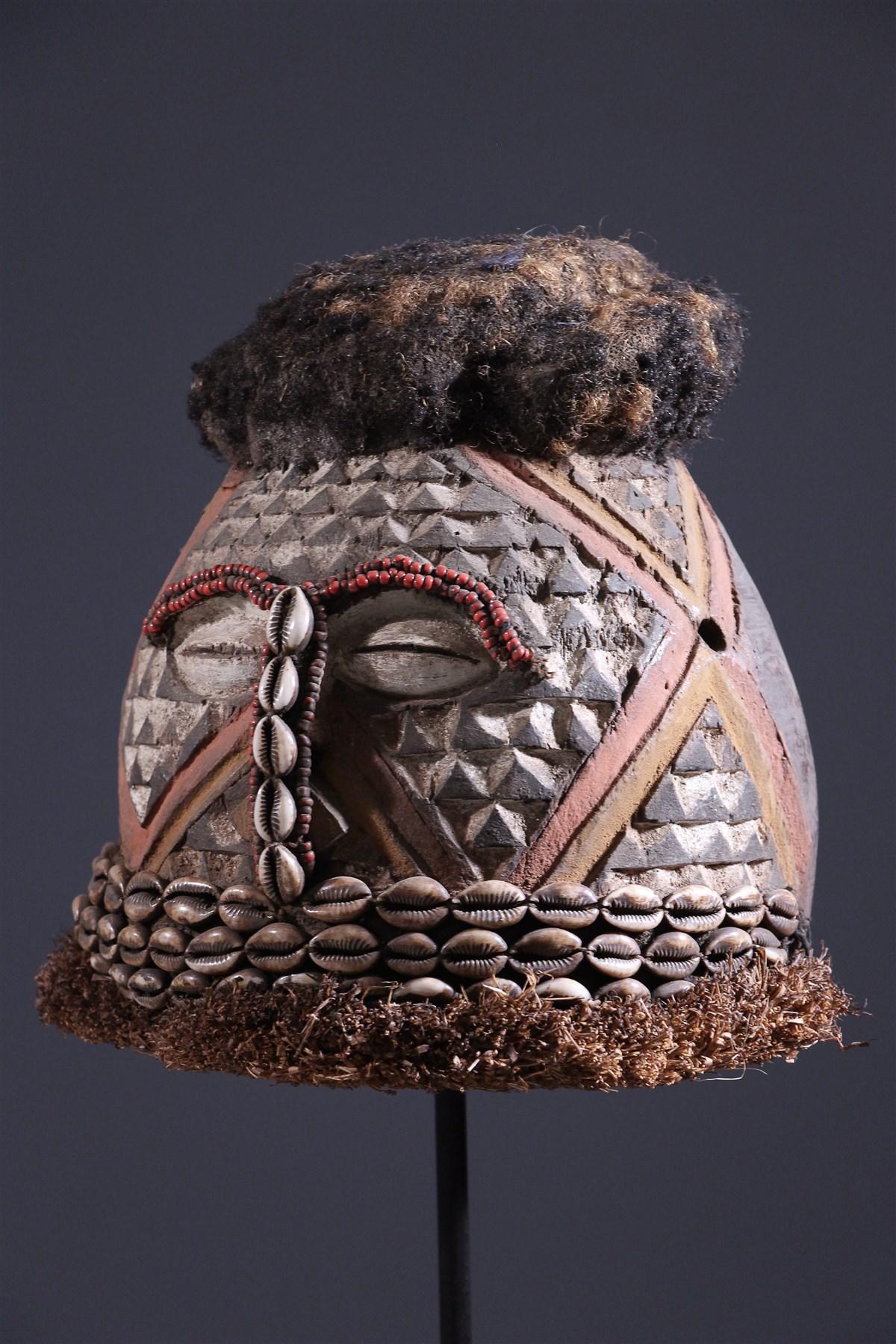 Masque casque Kuba Moshambwooy - art primitif
