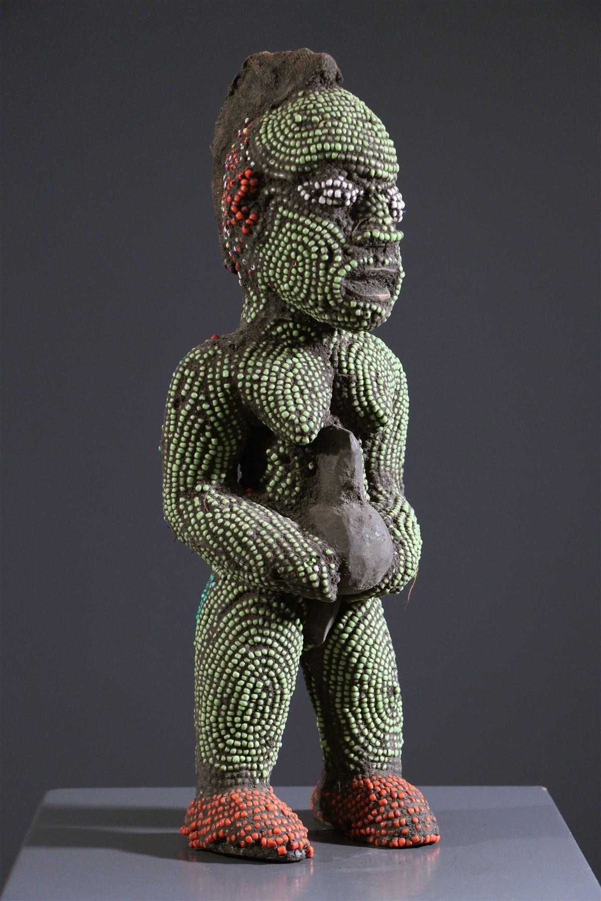 Statue perlée Bamileke - art primitif