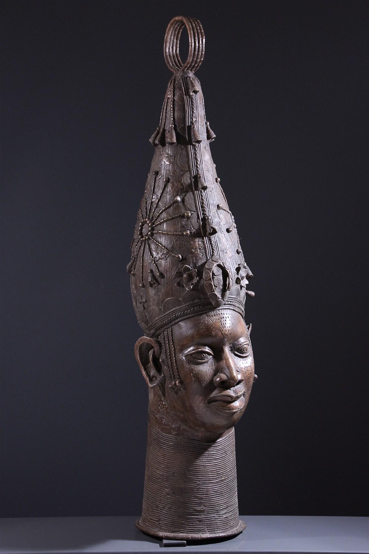 Grande tête d'autel royal Benin - art primitif