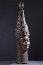 Grande tête d'autel royal Benin