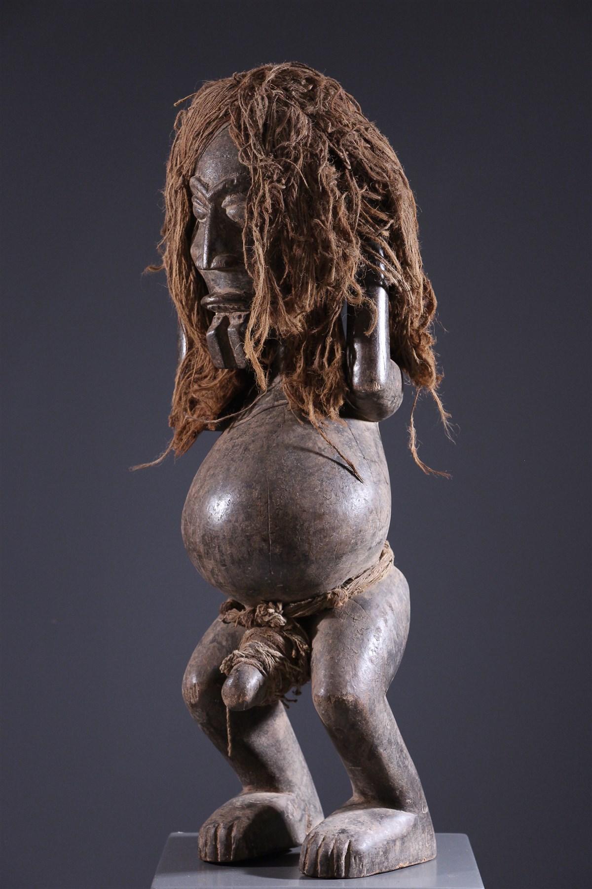 Statue masculine Ibibio - art africain