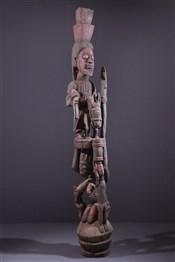 Art africain - Poteau - Poteau Yoruba Opo