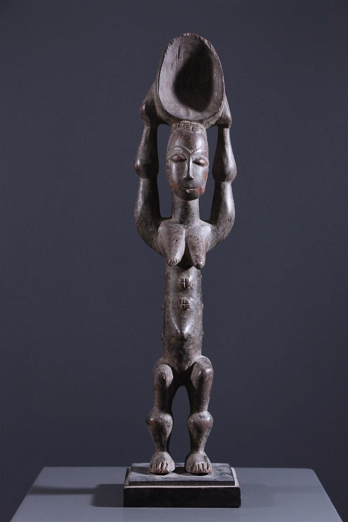 Cuillère anthropomorphe Baoulé - Art africain