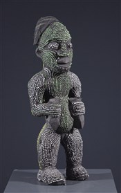 Art africain - Statues - Statue perlée Bamileke