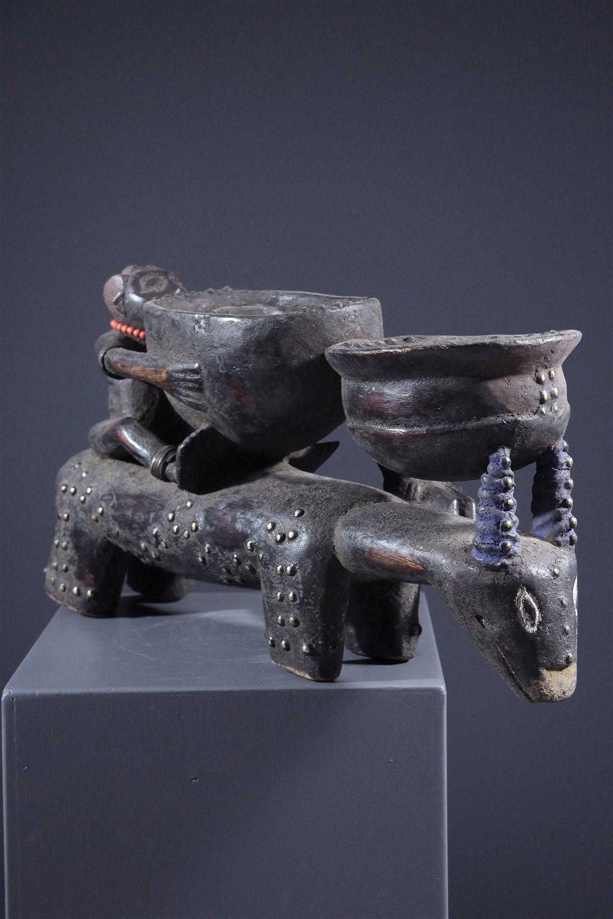 Coupe cultuelle Akan - art africain