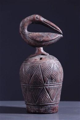 Cloche rituelle zoomorphe Kuba
