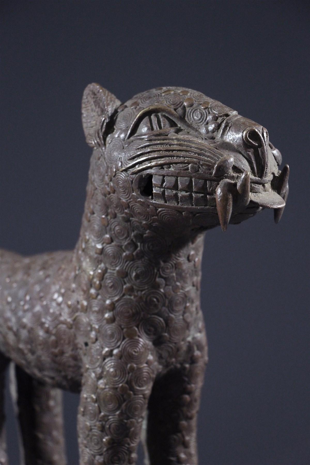 Léopard en bronze Bénin - Art africain