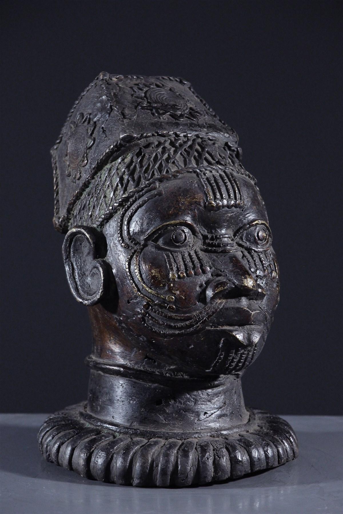 Tête Bénin Bini Edo - art primitif