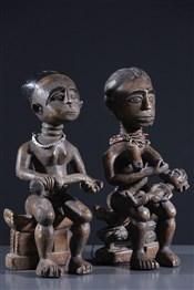 Statues africainesCouple Ashanti