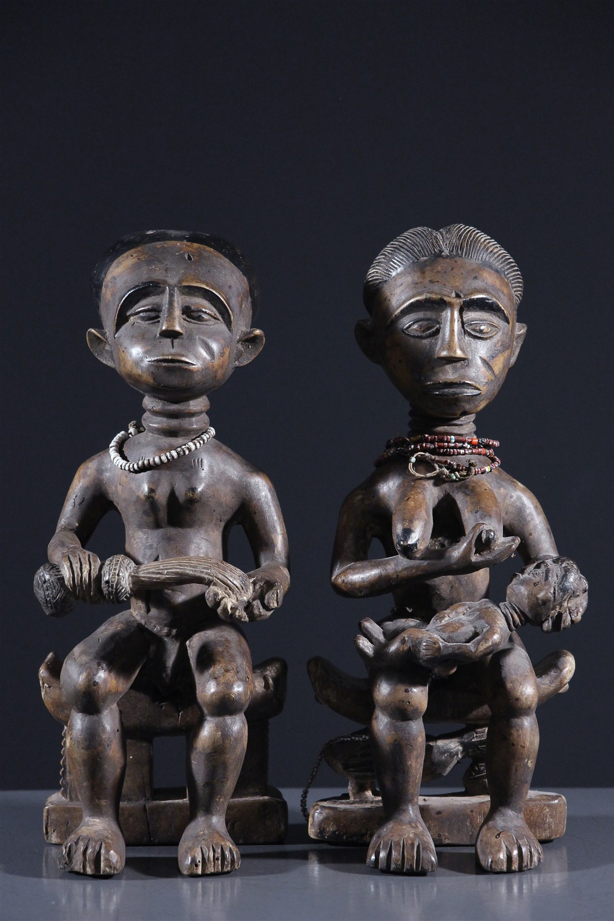 Couple Ashanti - Art africain
